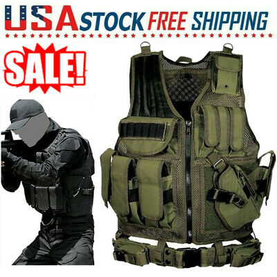 $29.13 • Buy Tactical Vest Breathable Military Molle Combat Hunting CS Field Training Vest US