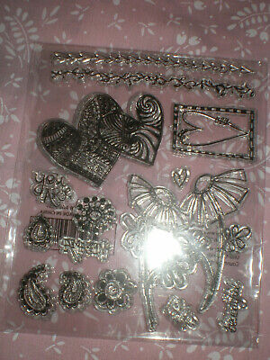 Set Of Clear Stamps - Flowers & Hearts • 1£