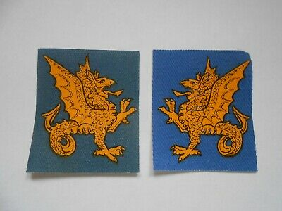£20 • Buy 43rd Wessex Division 2 Cloth Formation Signs Left & Right Facing Printed Patches
