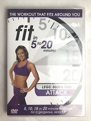 Fit In 5 To 20 Minutes Legs Bum And Tum Attack DVD 2011 New Sealed • 4.70£