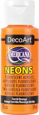 Americana Neons Fluorescent Acrylic Paint 2oz-Torrid Orange, DHS-2 • 5.30£