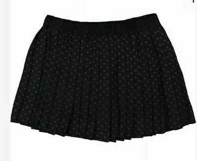 Bonpoint Pleated Girls Black Polka Dot Spots Wool Skirt Age 7-8 Years BNWT • 49.95£