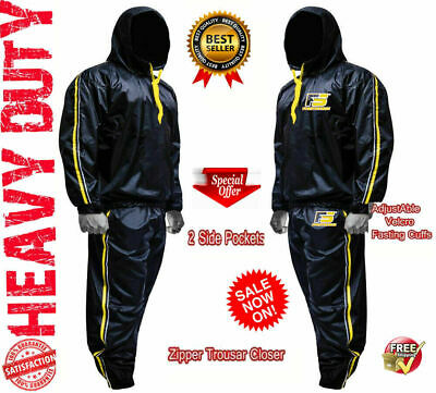 AU46.33 • Buy Sauna Sweat TRACK Suit For WEIGHT LOSS Men Women MMA BOXING Body SHAPER Workout