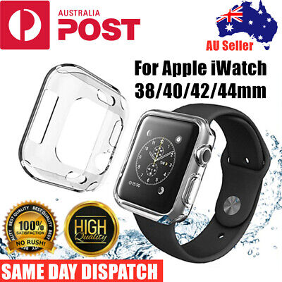 AU4.98 • Buy For Apple Watch IWatch Series SE 6 5 4 3 2 Clear Case Full Cover 38/40/42/44mm
