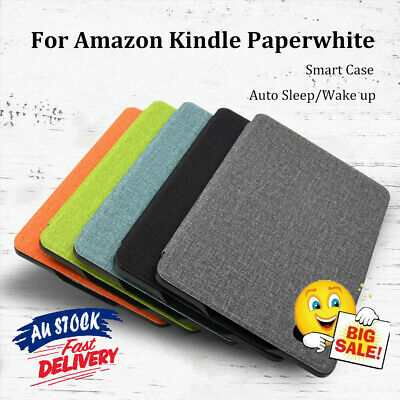AU12.99 • Buy Ultra Thin Smart Case Cover Fabric Texture For 2018 Kindle Paperwhite 1/2/3/4 AU