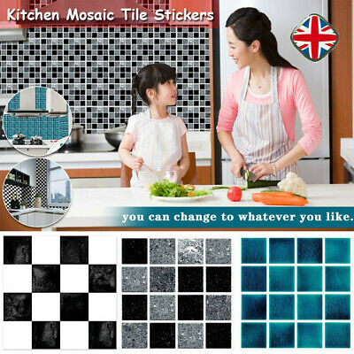 20PC Kitchen Tile Stickers Bathroom Mosaic Sticker Self-adhesive Wall Home Decor • 4.95£