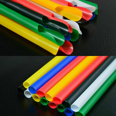 200Pcs Spoon Straws 20cm Smoothies Milkshake Juice Straw Party Supplies • 5.25£