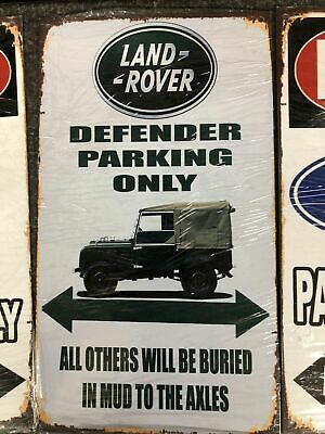 Land Rover/ Defender Parking Only/ Humourous Metal Sign, Man Cave/gararge • 14£
