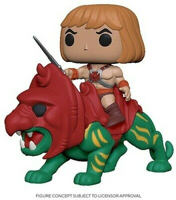 $29.94 • Buy FUNKO POP! RIDES: Masters Of The Universe - He-Man On Battle Cat [New Toy] Vin