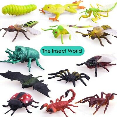 £3.98 • Buy Plastic Mini Insect Bugs Model Action Figure Kids Toys Gifts Jungle Decor 13-22x