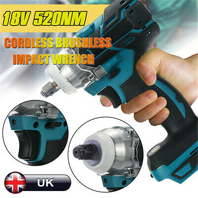 DTW285Z Torque Impact Wrench Brushless Cordless Replacement For Makita Battery ~ • 24.59£