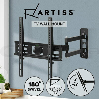 AU32.95 • Buy Artiss Full Motion TV Wall Mount Bracket Swivel LED LCD Plasma VESA 23-55 Inch