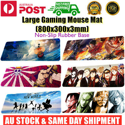 AU17.95 • Buy Extra Large Size Gaming Keyboard Mouse Mat Pad Desk Laptop Onepiece 800x300x3mm