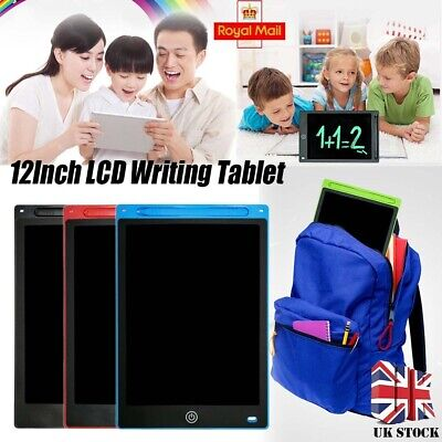 12  Digital Electronic LCD Writing Drawing Tablet Pad For Kids Graphics Notepad • 11.29£