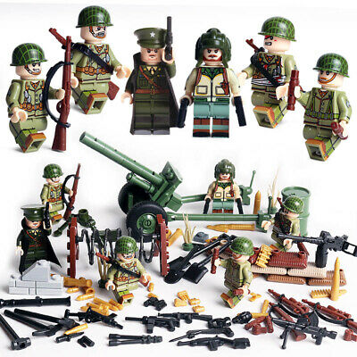 $14.99 • Buy WWII British Army Soldiers Minifigure Squad Military Building Blocks War Toy