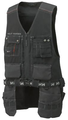 Helly Hansen Chelsea Construction Zip-Up Tool Vest Work Wear Sizes S-3XL • 65£