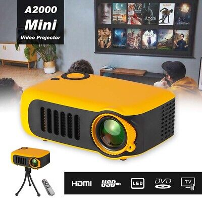 Mini Home Cinema Led HDMI Projector For PC Laptop Iphone Android Smartphone UK • 36.98£