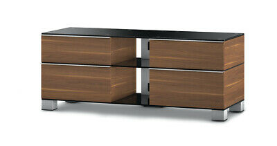 Sonorous MD9220 Glass & Wood 140cm TV Cabinet, Walnut Finish, For TVs Up To 50  • 199.99£