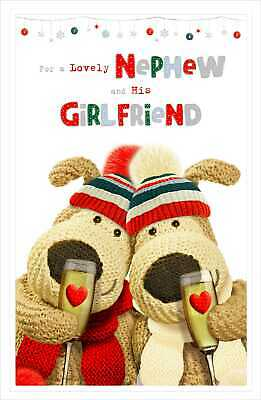 Boofle Lovely Nephew And His Girlfriend Christmas Greeting Card Cute Xmas Cards • 3.99£