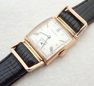 $ CDN83.25 • Buy Vintage Art Deco Mens Longines 17j Rose Gold Filled Drivers Wristwatch Watch