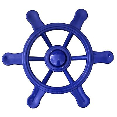 Steering Wheel Blue Ship Steering For Play Tower Pirate Ship Handlebar Blue • 9.76£