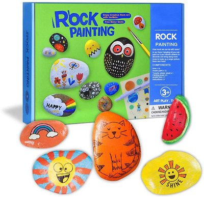 SOKY Gifts For 5-10 Year Old Girl Toys, Craft Kits Rocks Painting For Kids Age • 24.06£
