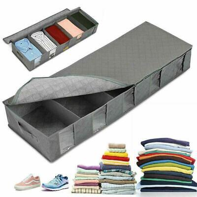 Large Capacity Under Bed Storage Bag Box 5 Compartment Clothes Shoe Organizer • 7.87£