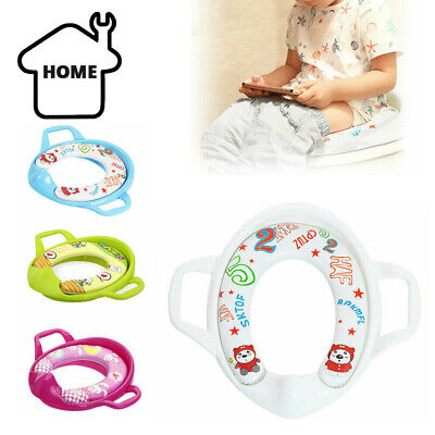 Baby Cartoon Portable Potty Seat Pad Kids Travel Toilet Training Seat Assistant • 6.99£
