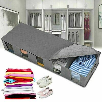 Large Capacity Under Bed Storage Bags Box 5 Compartment Clothes Shoe Organizer • 6.32£