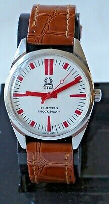 Vintage Titus Mens Military Style Mechanical Wrist Watch, 06-0083-407, 423340 • 15.99£