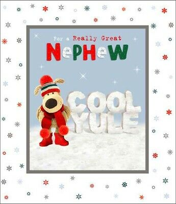 £4.59 • Buy Boofle Really Great Nephew Cool Yule Christmas Greeting Card Cute Xmas Cards