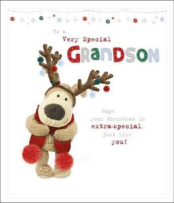 Boofle To A Very Special Grandson Christmas Greeting Card Cute Xmas Cards • 4.29£