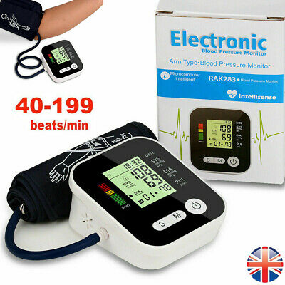 Digital Automatic Blood Pressure Monitor BP Machine Upper Arm With Large Cuff • 13.99£