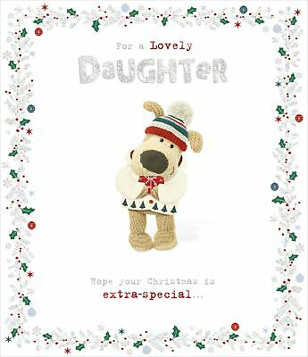 Boofle For A Lovely Daughter Christmas Greeting Card Cute Xmas Cards • 4.29£