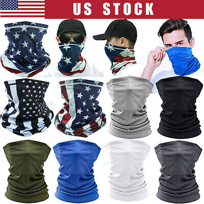 $9.99 • Buy Cool Neck Gaiter Balaclava Bandana Tube Scarf Half Face Mask Reusable Washable