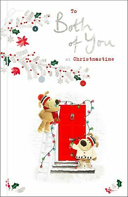 Boofle To Both Of You Embellished Christmas Greeting Card Cute Xmas Cards • 5.29£