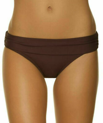 High Waisted Bikini Brief Mocha Brown Size XL 16 Fold Top Swimwear Bottom Saress • 5.89£