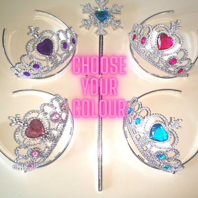 Princess Tiara Wand Girls Gift Christmas Stocking Filler Dress Up • 2.99£