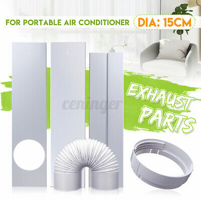 AU23.90 • Buy 15CM Window Adaptor +2/3 Pcs Window Slide Kit Plate Portable Air Conditioner NEW
