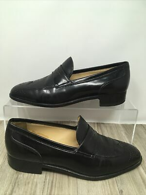 £49.99 • Buy Mens Moreschi For Russell & Bromley Black Leather Loafer Shoe UK Size 7.5 EXC