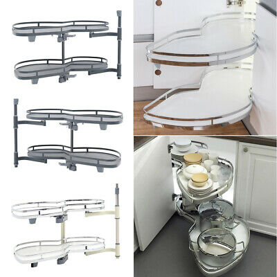 £139.95 • Buy 2 Tier Kitchen Cupboard Carousel Corner Pull Out Storage Shelves Fit 900 -1000mm