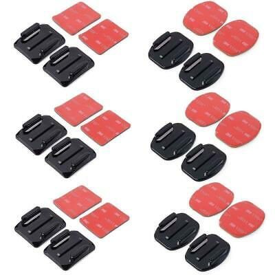 AU14.79 • Buy 12PCS Flat Curved Adhesive Mount Helmet Accessories For Gopro Hero 3 3+ 4 5