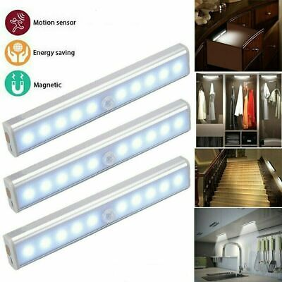 £13.95 • Buy Human Body Infrared Induction LED Night Light Cabinet Closet Stair Wardrobe Lamp