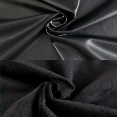 £25.49 • Buy Faux Leather Fabric Thick Fleece Lined PU Stretch DIY Coat Leggings 150*100cm