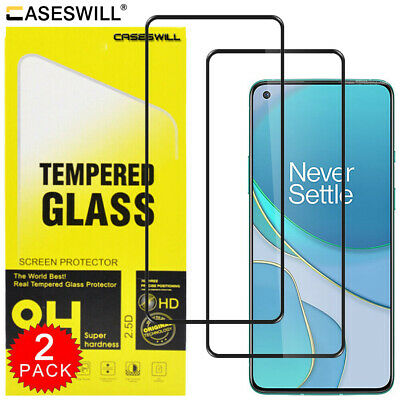 AU4.57 • Buy 2Pcs For OnePlus 8T / 8T+ 5G Full Coverage Tempered Glass Screen Protector