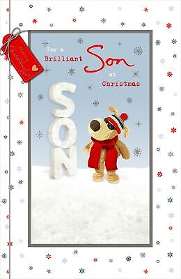 Boofle Brilliant Son At Christmas Greeting Card Embellished Xmas Cards • 5.99£
