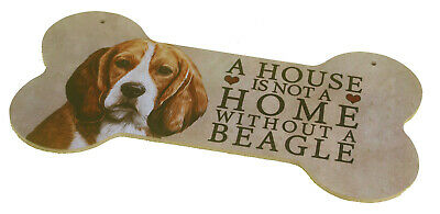Beagle Breed Of Dog Light MDF Bone Design Sign Plaque Perfect Gift • 5.99£