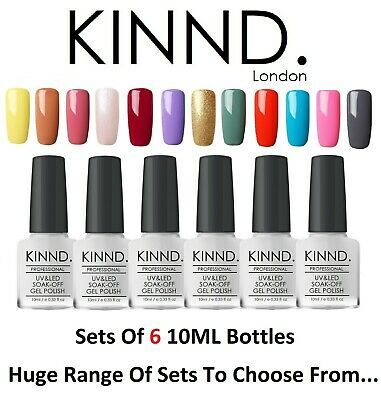 Nail Gel Polish SETS - UV LED Soak Off Nail Varnish Top Base Coat Colour 10ML • 6.99£