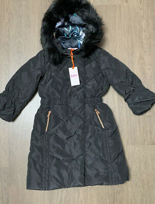 New Ted Baker Girls Black Down Longline Coat Size 6-7 Years • 45.44£