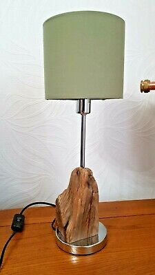 Unique Handmade Driftwood Table Lamp Cw Bulb And Shade. UK Plug • 39.99£